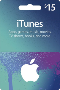 itunes $15 gift card - digital code - no expiration