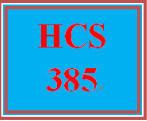 First Additional product image for - HCS 385 Week 2 Finance Environment Matrix
