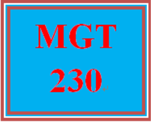 MGT 230 Week 1 The Manager's Role in the Workplace | eBooks | Education