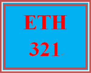 ETH 321 Week 4 Environmental Law and Ethics | eBooks | Education
