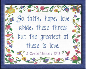 Greatest of these is Love | Crafting | Cross-Stitch | Other