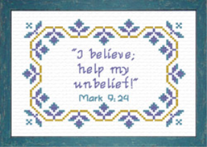 I Believe | Crafting | Cross-Stitch | Religious