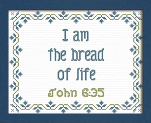 Bread of Life | Crafting | Cross-Stitch | Religious