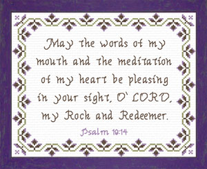 My Rock and Redeemer | Crafting | Cross-Stitch | Religious