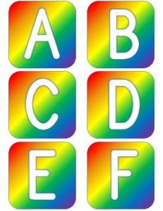 Bold Rainbow Alphabet | Other Files | Patterns and Templates