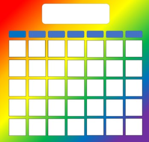 Bold Rainbow Calendar | Other Files | Patterns and Templates
