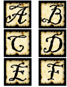Pirate Alphabet | Other Files | Patterns and Templates