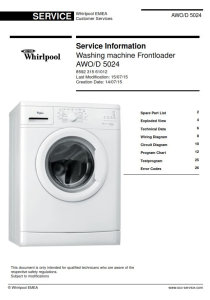 Whirlpool AWO/D 5024 Washing Machine Service Manual | eBooks | Technical
