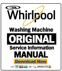 Whirlpool FSCR10425 Washing Machine Service Manual | eBooks | Technical