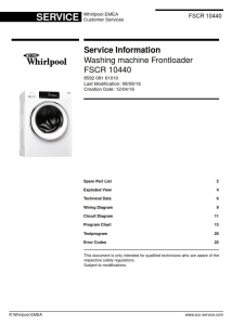 Whirlpool FSCR 10440 Washing Machine Service Manual | eBooks | Technical