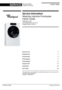 Whirlpool FSCR 12440 Washing Machine Service Manual | eBooks | Technical