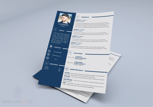 First Additional product image for - Professional resume template + cover letter