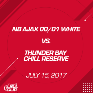 Girls U17: NB AJAX 01/00 White V. Thunder Bay Chill Reserve | Movies and Videos | Sports