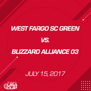 girls u14: west fargo sc green v. blizzard alliance 03