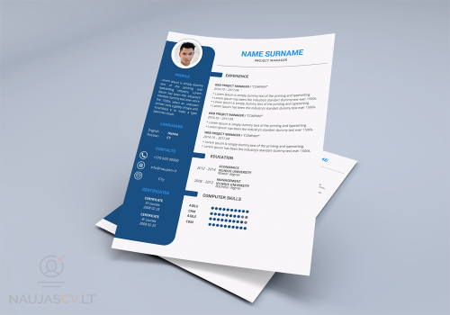 First Additional product image for - Professional resume template