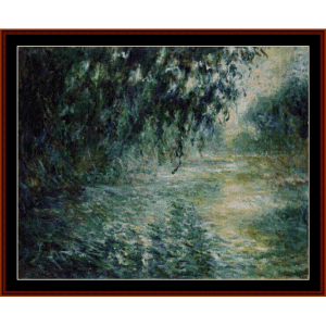 Morning on the Seine VIIII - Monet cross stitch pattern by Cross Stitch Collectibles | Crafting | Cross-Stitch | Wall Hangings