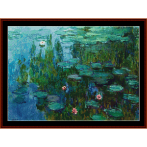 waterlilies v - monet cross stitch pattern by cross stitch collectibles