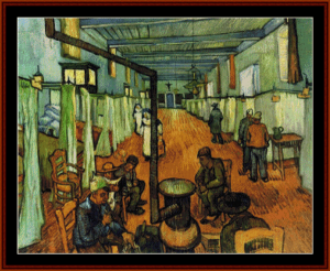 ward in the hosptral, 1889 - van gogh cross stitch pattern by cross stitch collectibles