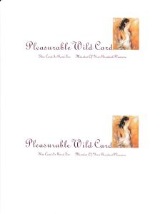 pleasurable wild card