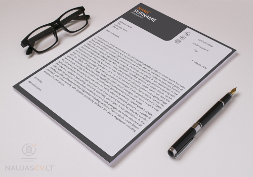 Second Additional product image for - Resume template + cover letter