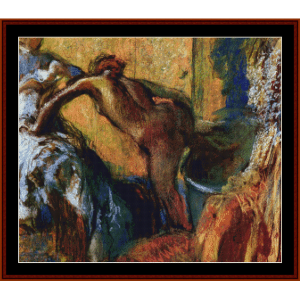after the bath v - degas cross stitch pattern by cross stitch collectibles