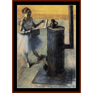 dancer resting - degas cross stitch pattern by cross stitch collectibles