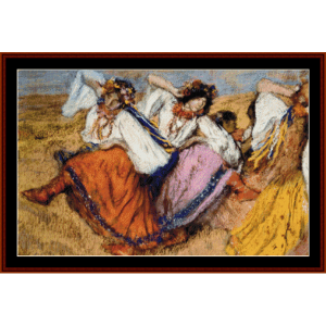 russian dancers - degas cross stitch pattern by cross stitch collectibles