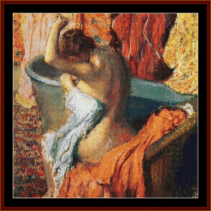 seated bather, 1899 - degas cross stitch pattern by cross stitch collectibles