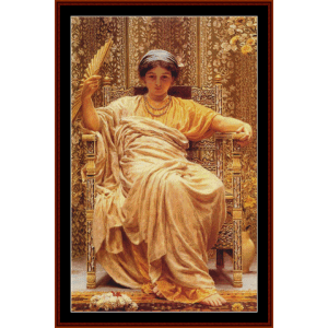 a reverie, 1892 - aj moore cross stitch pattern by cross stitch collectibles