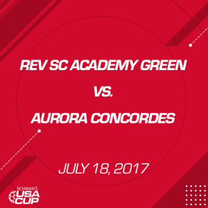 girls u15 gold: rev sc academy green v. aurora concordes