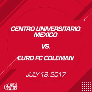 boys u19 silver: centro universitario mexico v. euro fc coleman