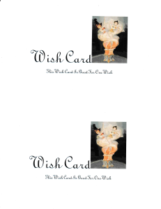 Wish Card | Photos and Images | Entertainment