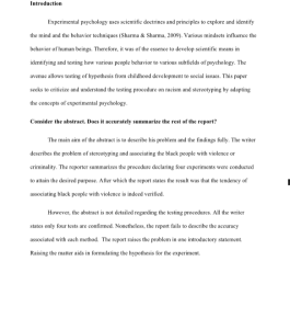 Experimental Psychology Midterm Paper 3 pages | Documents and Forms | Research Papers