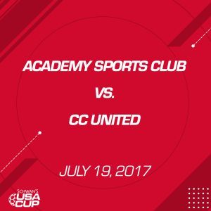 boys u15 gold: academy sports club v. cc united