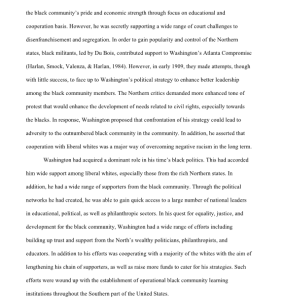 Booker T. Washington Ralph  Ellison Invisible Man 5 pages | Documents and Forms | Research Papers