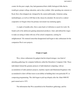steve jobs legacy paper, 5 pages