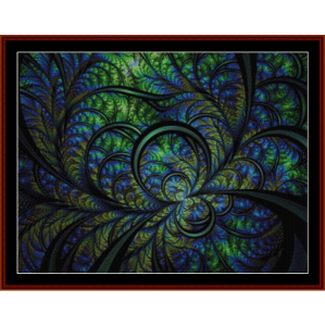 Fractal 629 cross stitch pattern by Cross Stitch Collectibles | Crafting | Cross-Stitch | Wall Hangings