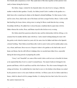 family history 6 page paper