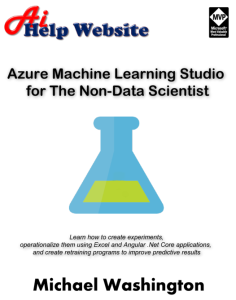 azure machine learning studio for the non-data scientist