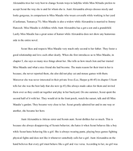4 page compare contrast essay on To Kill a Mockingbird | Documents and Forms | Research Papers