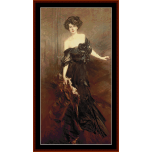 mademoiselle de nemidoff - boldini cross stitch pattern by cross stitch collectibles