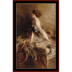 madame de florian i - boldini cross stitch pattern by cross stitch collectibles