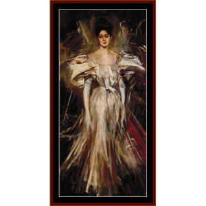 madame de florian ii - boldini cross stitch pattern by cross stitch collectibles