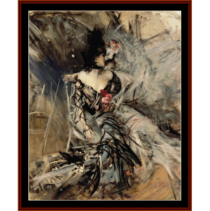 spanish dancer - boldini cross stitch pattern by cross stitch collectibles