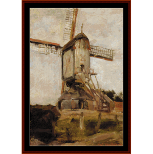 Windmill - Mondrian cross stitch pattern by Cross Stitch Collectibles | Crafting | Cross-Stitch | Wall Hangings