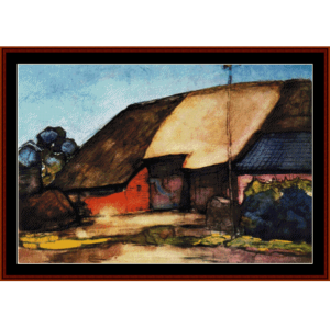 farm on nistelrode - mondrian cross stitch pattern by cross stitch collectibles