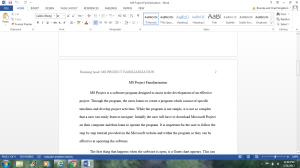 MS Project Familiarization | Documents and Forms | Research Papers
