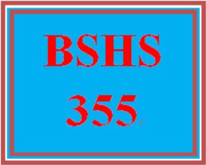 BSHS 355 Week 1 Learning Team Charter | eBooks | Education