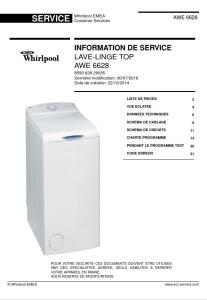 Whirlpool AWE 6628 Manuel de service Lave-linge | eBooks | Technical