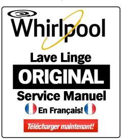 Whirlpool AWE 7210GG Manuel de service Lave-linge | eBooks | Technical